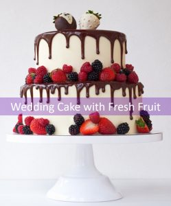 Wedding Cake w Fresh Fruit2